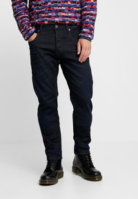 G-Star - 3301 SLIM FIT - Slim fit jeans - visor stretch denim - dk aged - 0