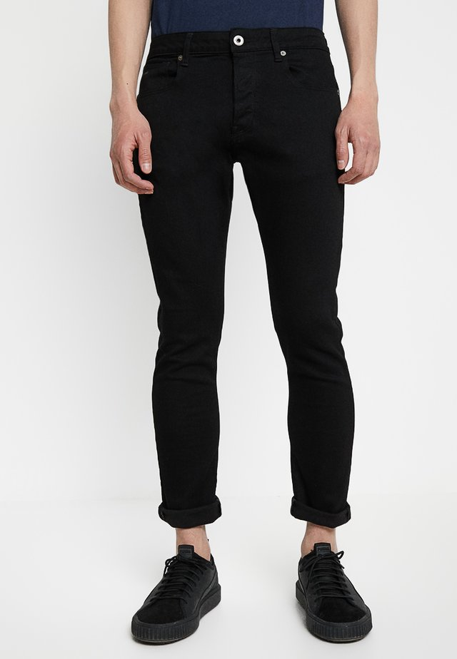3301 SLIM FIT - Jeans Slim Fit - elto nero black superstretch/pitch black