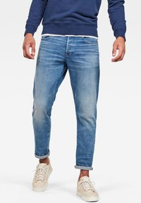 G-Star - 3301 STRAIGHT TAPERED - Jean droit - blue - 0