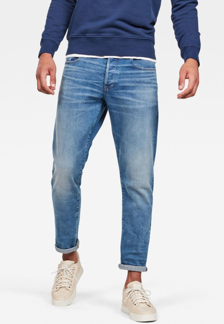 G-Star - 3301 STRAIGHT TAPERED - Straight leg jeans - blue