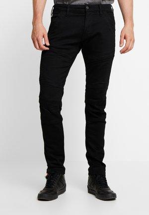 RACKAM 3D SKINNY - Jeans Skinny Fit - elto nero black