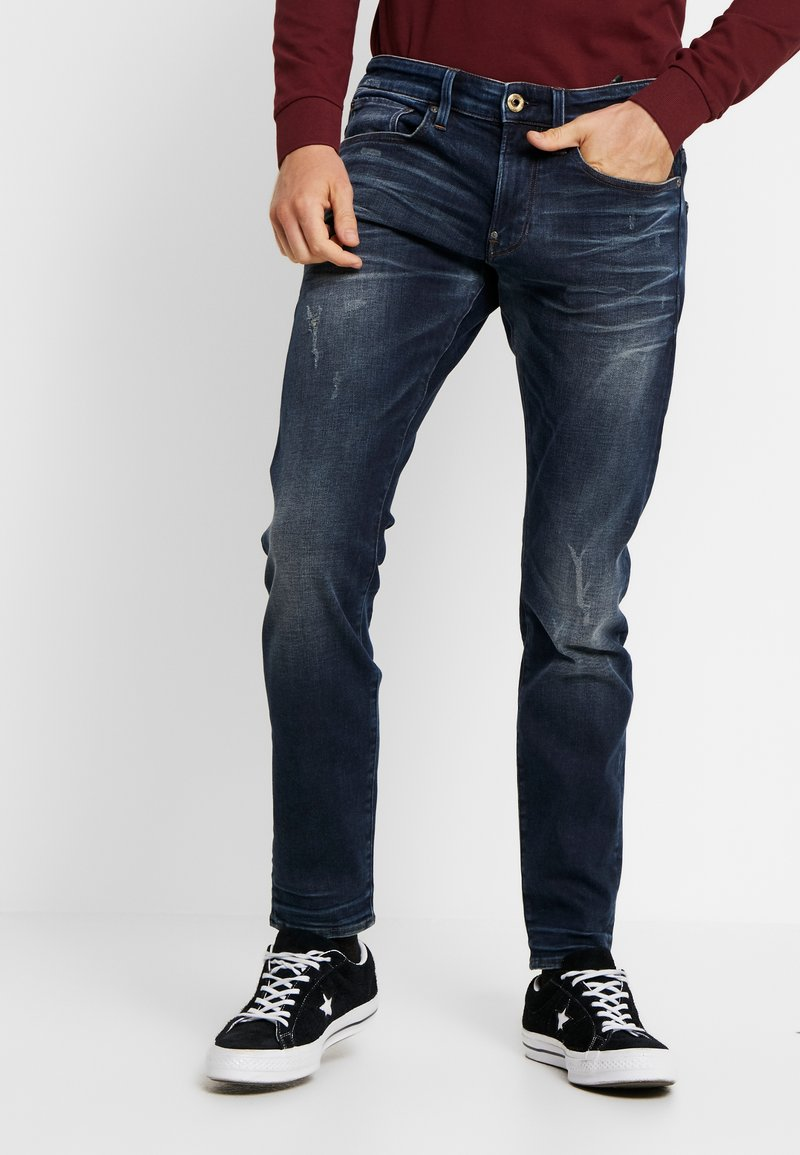 G-Star - REVEND - Skinny džíny - elto superstretch - worn in wave destroyed