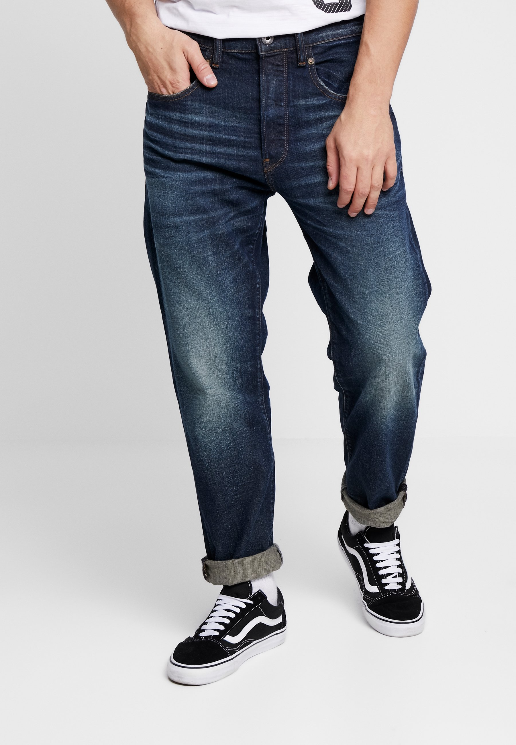 G-Star 5650 3D RELAXED TAPERED - Jeansy Relaxed Fit - kir stretch denim o - antic nile