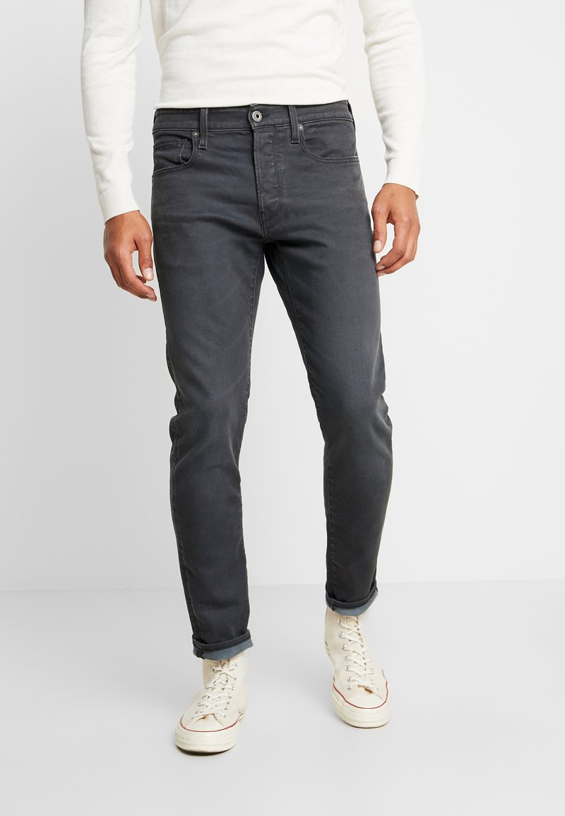 G-Star - 3301 SLIM - Jeansy Slim Fit - kamden grey stretch denim