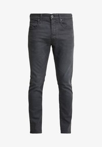 G-Star - 3301 SLIM - Jeansy Slim Fit - kamden grey stretch denim - 4