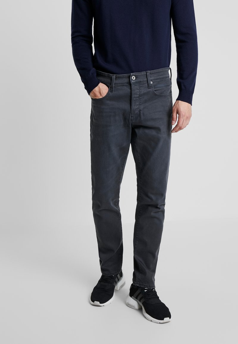 G-Star - 3301 STRAIGHT TAPERED - Straight leg jeans - kamden grey stretch denim - dry waxed pebble grey