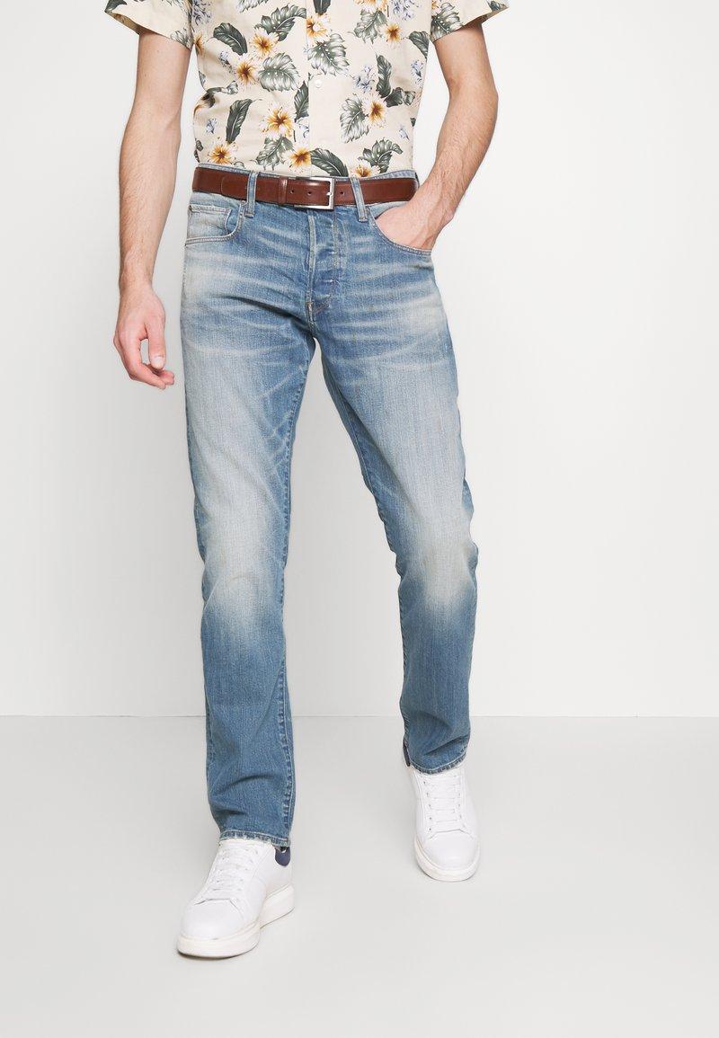 G-Star - 3301 STRAIGHT - Džíny Straight Fit - denim antic faded royal blue