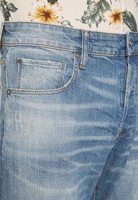 G-Star - 3301 STRAIGHT - Džíny Straight Fit - denim antic faded royal blue - 5