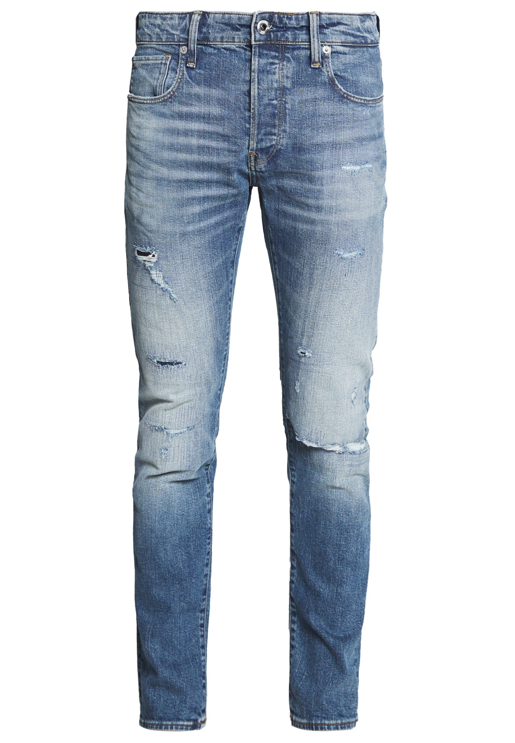 G-Star SLIM - Jeansy Slim Fit - denim worn in blue faded