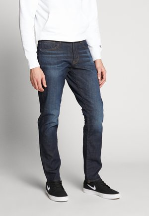 STRAIGHT TAPERED - Straight leg jeans - kir stretch denim/worn in