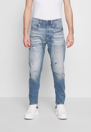 Džíny Relaxed Fit - kir stretch denim worn in ripped blue faded
