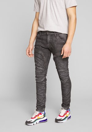 AIR DEFENCE ZIP SKINNY - Slim fit jeans - grey denim