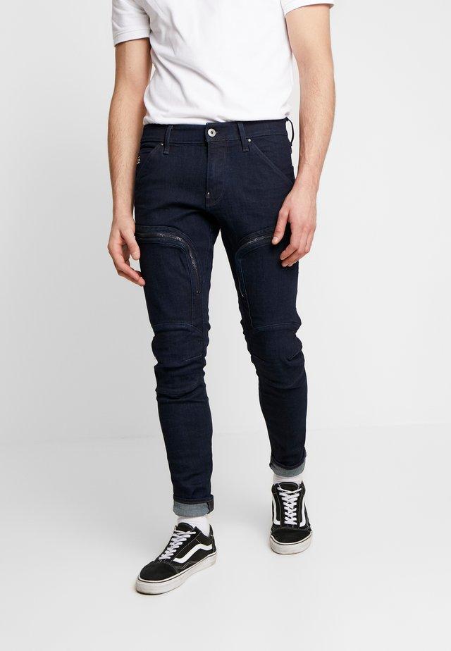 AIR DEFENCE ZIP SKINNY - Jeans slim fit - raw denim