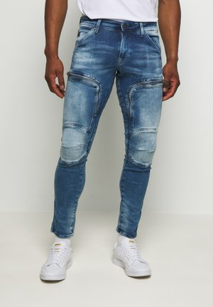 AIR DEFENCE ZIP - Slim fit jeans - sun faded azurite