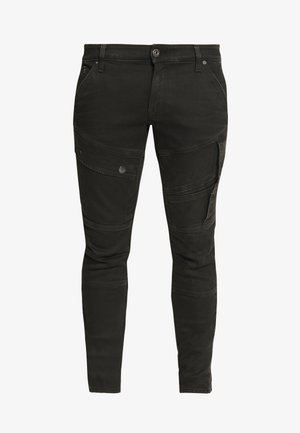 AIRBLAZE 3D SKINNY - Jeansy Skinny Fit - loomer black r superstretch worn in umber cobler