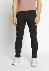 G-Star - AIRBLAZE 3D SKINNY - Jeans Skinny Fit - loomer black r superstretch worn in umber cobler - 0