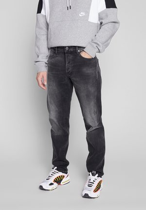 CITISHIELD 3D SLIM TAPERED - Jeans fuselé - soot black stretch denim - worn in flint grey wp