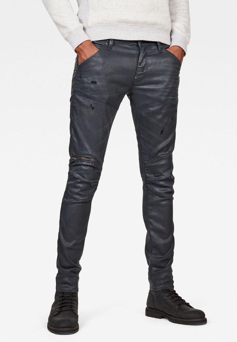 G-Star - 5620 3D ZIP KNEE  - Jeans Skinny Fit - waxed black