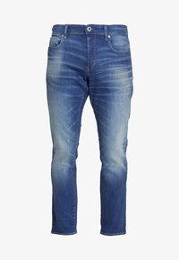 G-Star - 3301 STRAIGHT TAPERED - Jeansy Straight Leg - worker blue faded - 4
