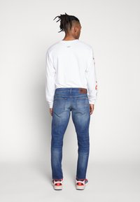 G-Star - 3301 STRAIGHT TAPERED - Jeansy Straight Leg - worker blue faded - 2