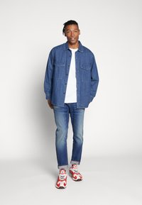 G-Star - 3301 STRAIGHT TAPERED - Jeansy Straight Leg - worker blue faded - 1