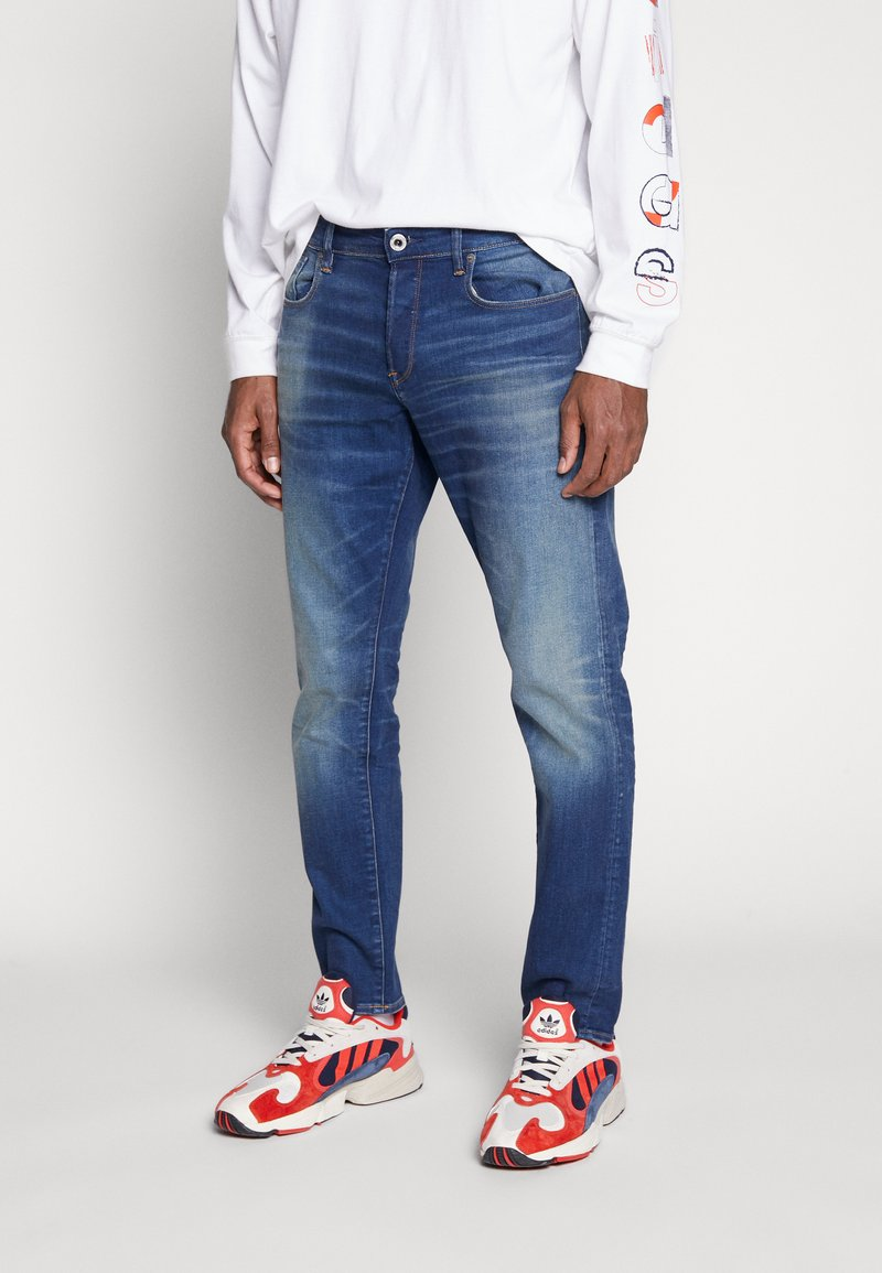 G-Star - 3301 STRAIGHT TAPERED - Jeansy Straight Leg - worker blue faded
