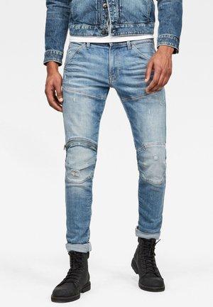 ZIP KNEE - Slim fit jeans - blue ink