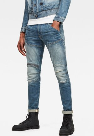 5620 3D ZIP KNEE SKINNY - Slim fit jeans - lt vintage aged ripped destroy