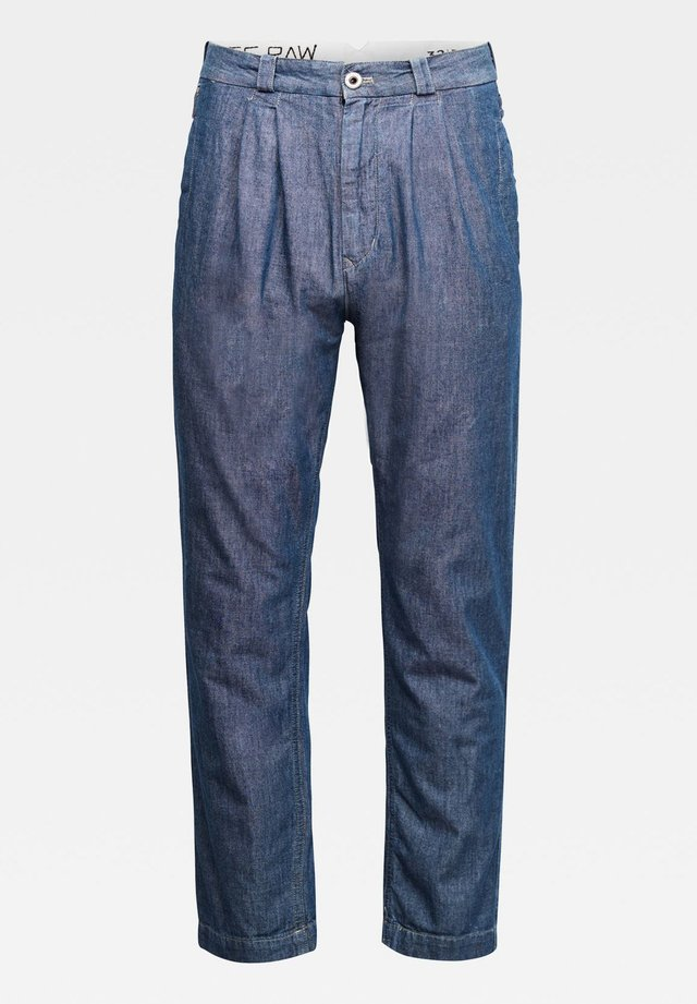 VARVE RELAXED PLEATED - Jean boyfriend - faded navy