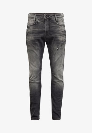 D-STAQ 3D SLIM VINTAGE BASALT DESTROYED MEN - Jean slim - vintage basalt destroyed