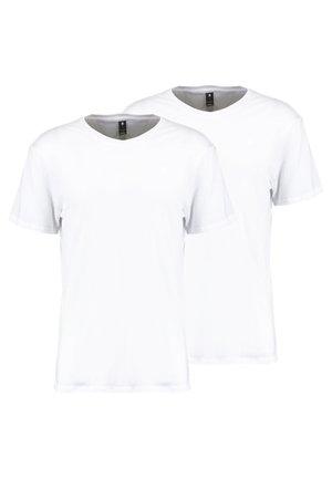 BASE HTR R T S/S 2-PACK - Basic T-shirt - white solid