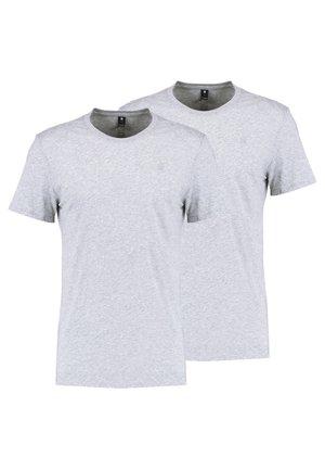 BASE HEATHER 2-PACK - T-shirt basic - grey heather