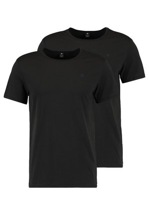 BASE HEATHER 2-PACK - Basic T-shirt - solid black