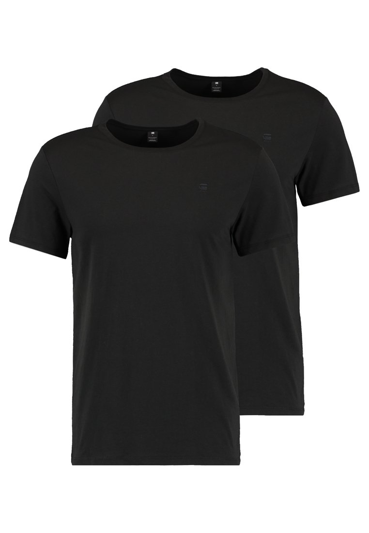 G-Star - BASE HTR R T S/S 2-PACK - T-shirt basic - solid black