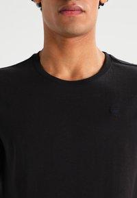 G-Star - BASE HTR R T S/S 2-PACK - T-shirt basic - solid black - 4