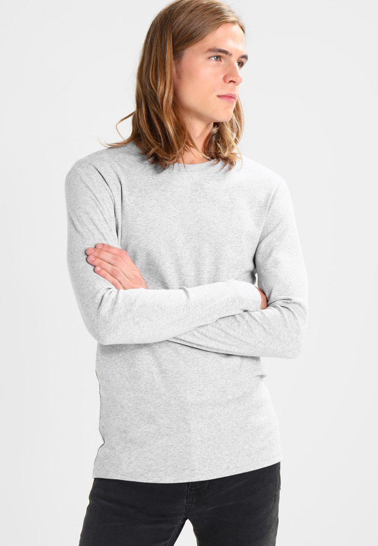 G-Star - BASE R T L/S 1-PACK  - Bluzka z długim rękawem - grey heather