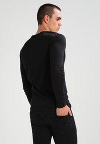G-Star - BASE R T L/S 1-PACK  - Long sleeved top - black - 2