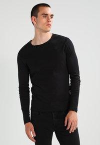 G-Star - BASE R T L/S 1-PACK  - Long sleeved top - black - 0