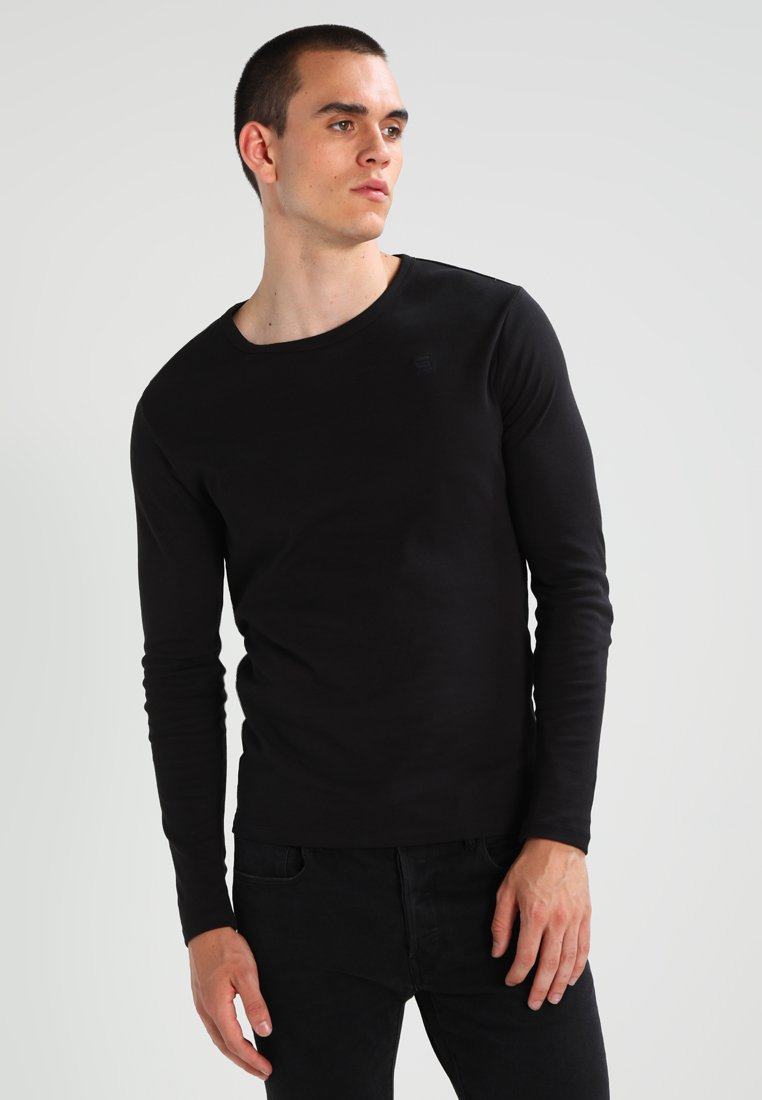G-Star - BASE R T L/S 1-PACK  - Langarmshirt - black