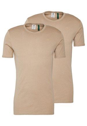 BASE 2 PACK  - T-shirt - bas - khaki