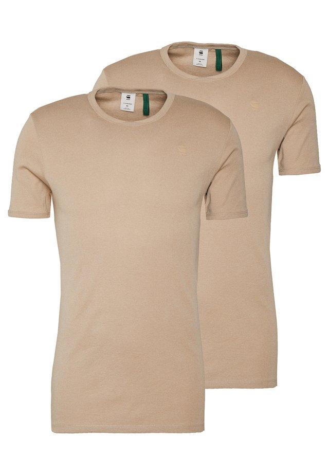 BASE 2 PACK  - Basic T-shirt - khaki