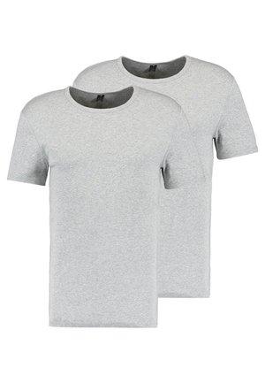 BASE R T S/S 2 PACK  - Jednoduché triko - grey heather
