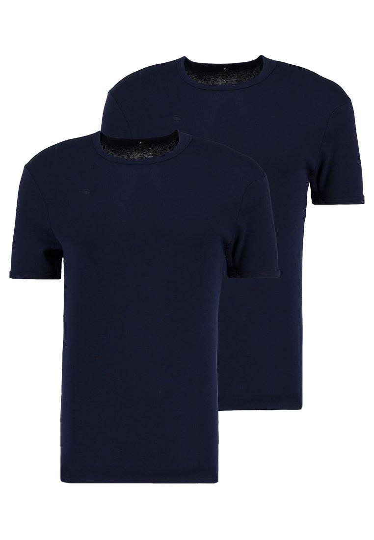 G-Star - BASE 2 PACK  - Basic T-shirt - sartho blue