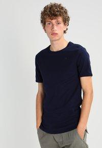 G-Star - BASE 2 PACK  - Basic T-shirt - sartho blue - 2