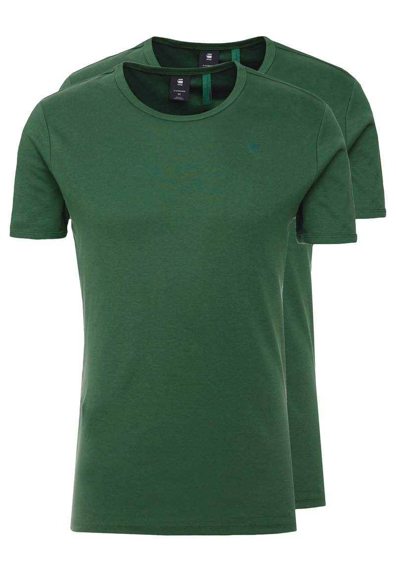 G-Star - BASE R T S/S 2 PACK  - T-shirts basic - deep nuri green