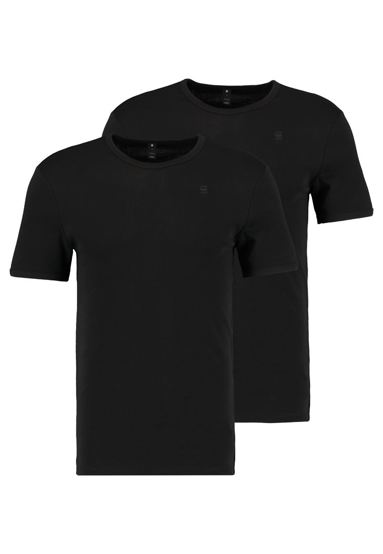 G Star BASE 2 PACK T shirt basique black ZALANDO.FR