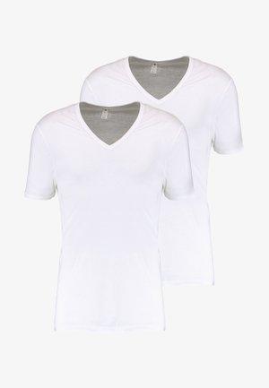 BASE V T S/S SLIM FIT 2 PACK - T-paita - white