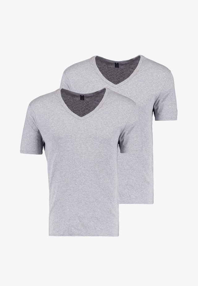 BASE 2 PACK - T-shirt basic - grey heather