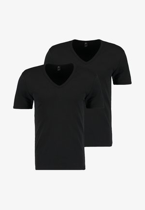 BASE 2 PACK - Basic T-shirt - black