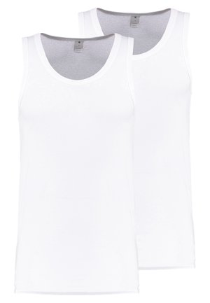 BASE TANK T 2-PACK - Linne - white